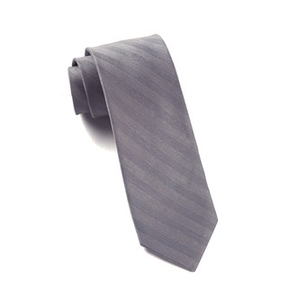 invisible stripe silver ties