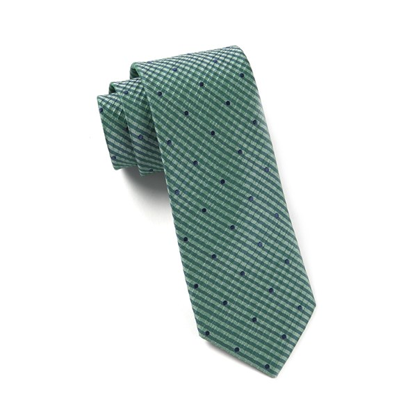 Green Teal French Kiss Tie