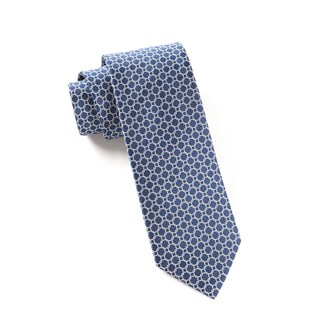Chain Reaction Navy Tie