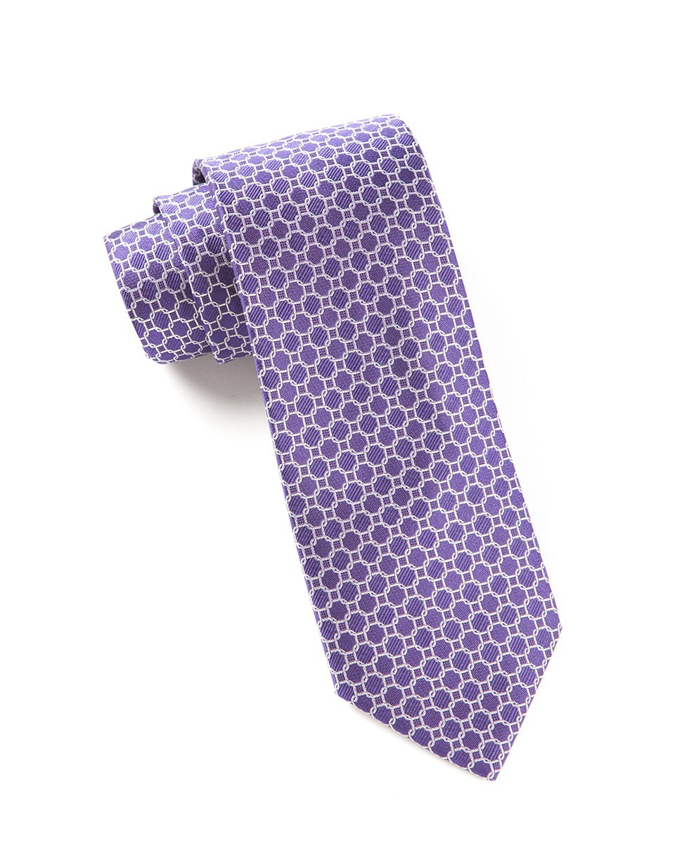Purple chain reaction tie ties bow ties and pocket for Ties that go with purple shirts