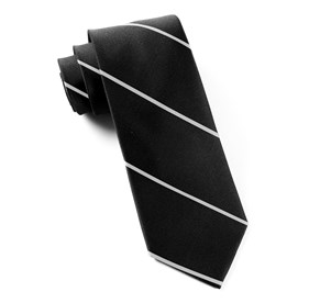 Black Delta Stripe ties