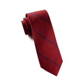 Delta Stripe Red Ties