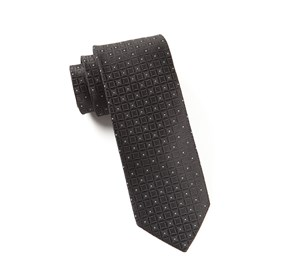 Black Covert Checks ties