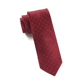 Burgundy Covert Checks ties