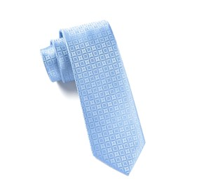 LIGHT BLUE COVERT CHECKS ties