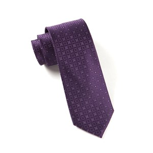 covert checks plum ties