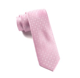 Baby Pink Covert Checks ties