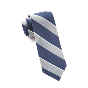patina stripe silver ties
