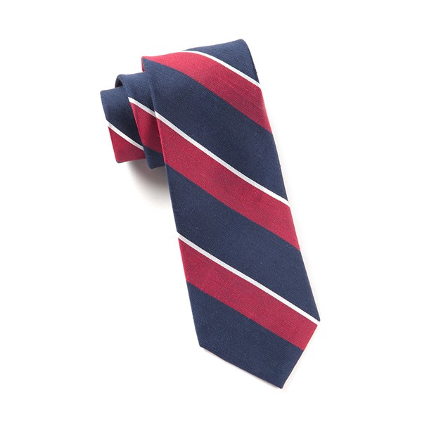 Red Patina Stripe Tie