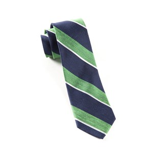 patina stripe kelly green ties