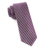 Ties - Textured Checks - Plum