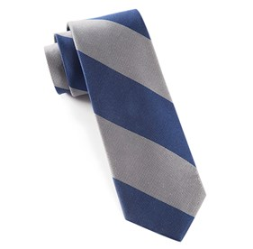 Super Stripe Silver Ties