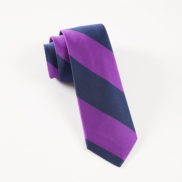 Purple Super Stripe Tie