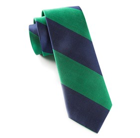 Emerald Super Stripe ties