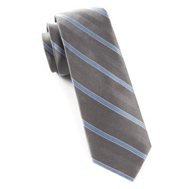 Pipe Dream Stripe Silver Ties
