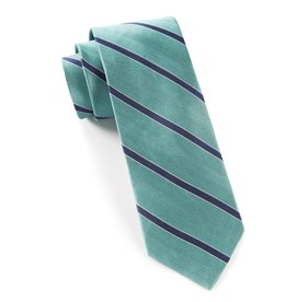 Aqua Pipe Dream Stripe ties