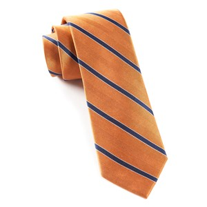 pipe dream stripe apricot ties