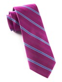 "Pipe Dream Stripe - Azalea - 2.5"" x 58"" - Ties"