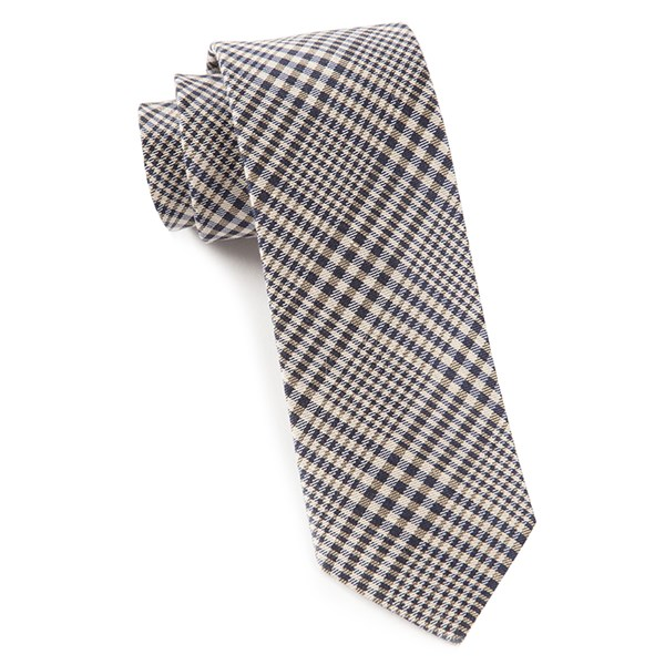Light Champagne Huntington Plaid Tie
