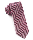 Ties - Huntington Plaid - Red
