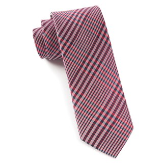 huntington plaid red ties