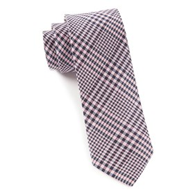 Baby Pink Huntington Plaid ties