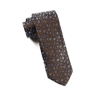 milligan flowers chocolate brown ties