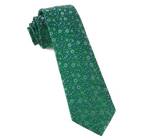 Milligan Flowers Emerald Green Ties