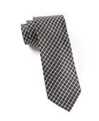 Ties - Textured Checks - Black