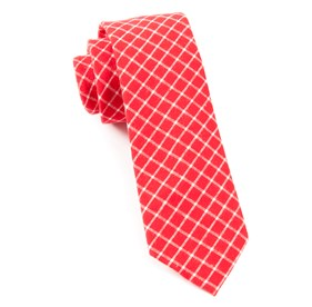 Dominion Plaid Apple Red Ties