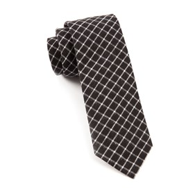 Dominion Plaid Black Ties