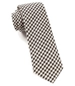 Ties - Fall Gingham (FS) - Black
