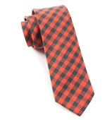 Ties - Fall Colorful Plaid - Red