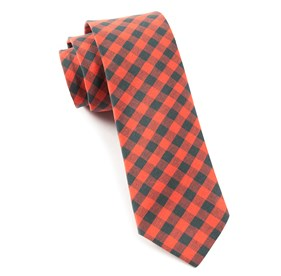 Fall Colorful Plaid Red Ties