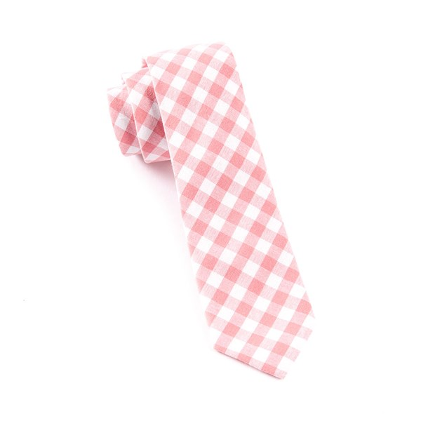Strawberry Fall Colorful Plaid Tie