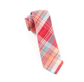 Clarendon Plaid Red Ties