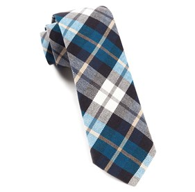 Serene Blue Crown Plaid ties