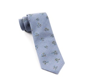 Calico Chambray Soft Blue Ties