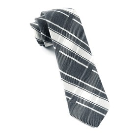 Abbey Plaid Black Ties