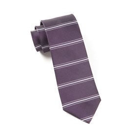 Eggplant Ripon Horizontal Stripe ties