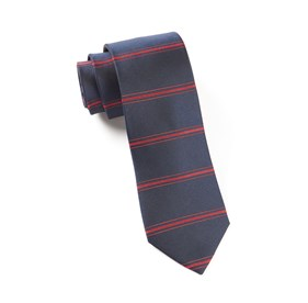 Navy Ripon Horizontal Stripe ties