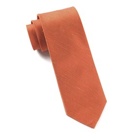 Orange Fountain Solid ties