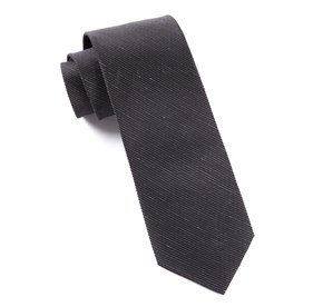 Black Fountain Solid ties