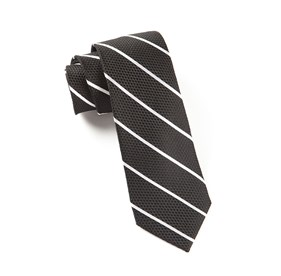 Black Grenafaux Track Stripe ties