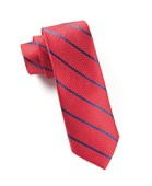 Ties - Grenafaux Track Stripe - Red