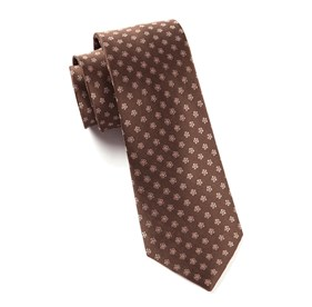 Chocolate Brown Anemones ties