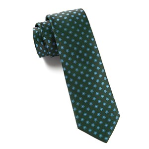 anemones hunter green ties