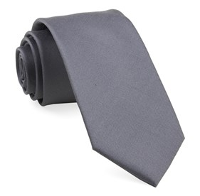 Charlotte Solid Steel Grey Ties