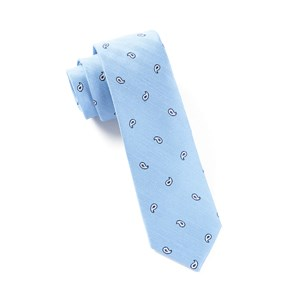 subtle paisley light blue ties