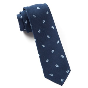 subtle paisley navy ties